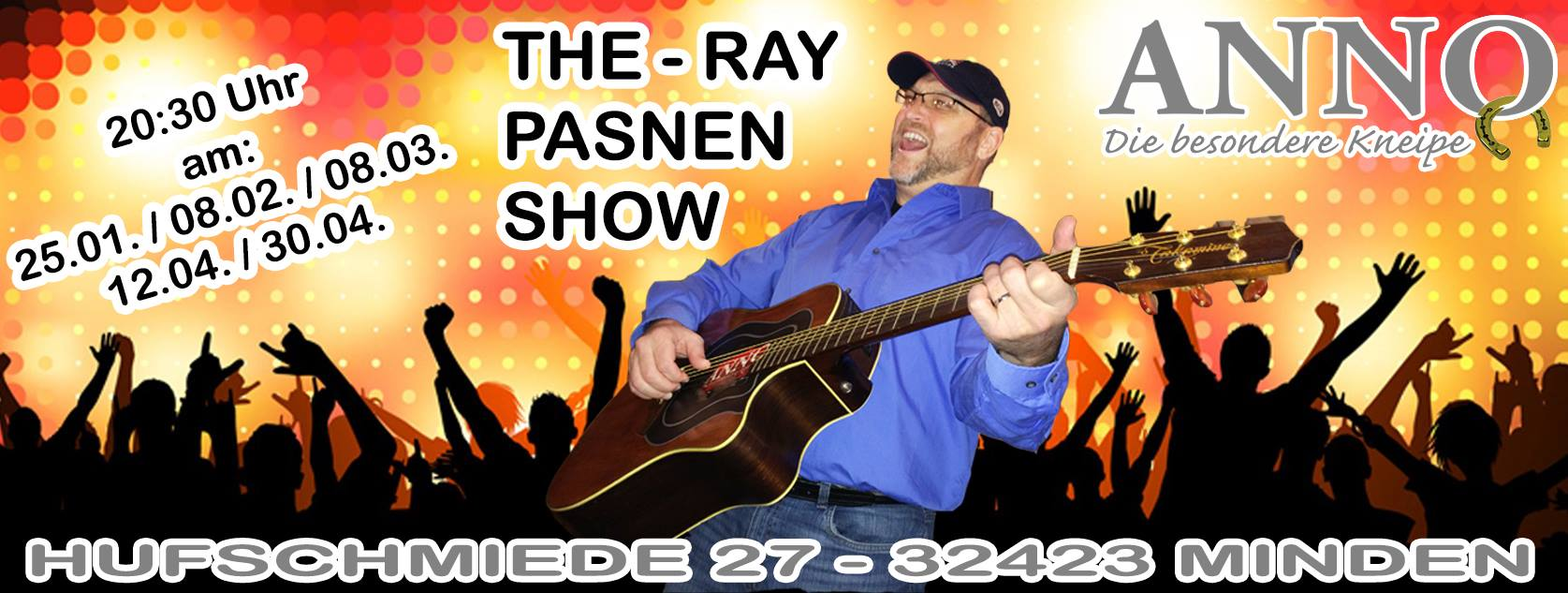 Ray Pasnen live at Anno Jan 25 - Feb 08 - Mar 08 - Apr 12 - Apr 30 - 2014