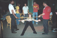 Raj Kelly Merv limbo dancing at The Gloucester Motel - photos.